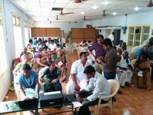 CSISA scientists sensitizing the partners and farmers on the Nutrient Manager of Rice tool in a workshop from 17-19 June in Thanjavur, Tamil Nadu.
