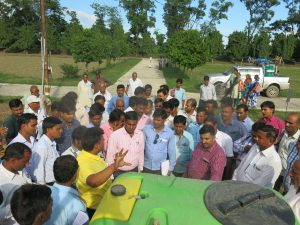 More than 70 extension workers participated in a capacity building workshop organized by CSISA at KVK Kushinagar.